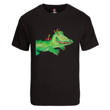 alligator with crawfish black tshirt